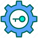 key, lock, login, reparation, setting icon