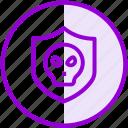 hacker, protection, shield, virus icon