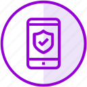 mobile, phone, protection, security icon