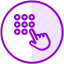 code, hand, pin, security icon