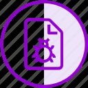 bug, file, malware, virus icon