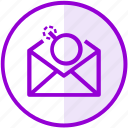 bomb, email, mail, spam icon
