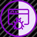 browser, malware, virus, webpage, website icon