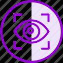 eye, lock, security, vision icon