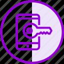 key, mobile, password, phone, security icon