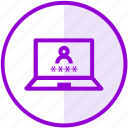 account, laptop, login, password, security