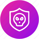 hacker, protection, shield, virus icon