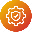 protection, security, settings, shield icon