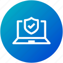 antivirus, laptop, protection, security icon