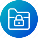 folder, lock, protection, security icon