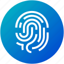 biometric, fingerprint, security, touch icon