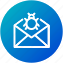 email, mail, spam, virus icon
