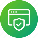 browser, protection, security, webpage, website icon