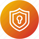 access, protection, security, shield icon