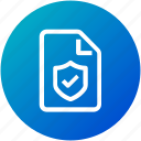 document, file, lock, protection, security icon