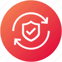 protection, security, shield, sync, update icon