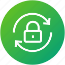 closed, lock, security, sync, update icon