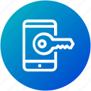 key, mobile, password, phone, security icon