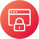 browser, lock, security, webpage, website icon