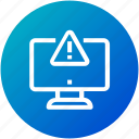 computer, error, monitor, sign, warning icon