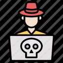 crime, cyber, hacker icon