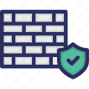 cryptoviral, cyber attack, firewall, protection, security icon