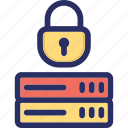 cryptoviral, cyber attack, database, security, server icon