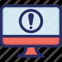 computer, error, tech, warning icon