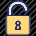 lock, open, public, security, unlock icon