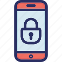 lock, mobile, mobile lock, security icon