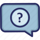 any question, faq, help, question, support icon