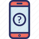 faq, help, helpline, mobile, support icon