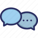 chat, conversation, message, tech icon