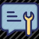 computer program, maintenance, support, tech, technical icon