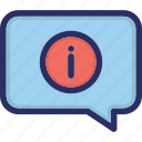 bubble, chat bubble, help, information, support icon