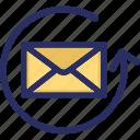 email, helpline, hotline, refresh, update icon