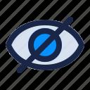 disable, eye, hidden, hide, internet, security, view icon