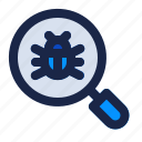 bug, danger, internet, malware, search, security, virus icon