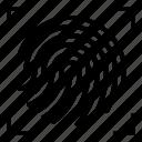 access, fingerprint, internet icon