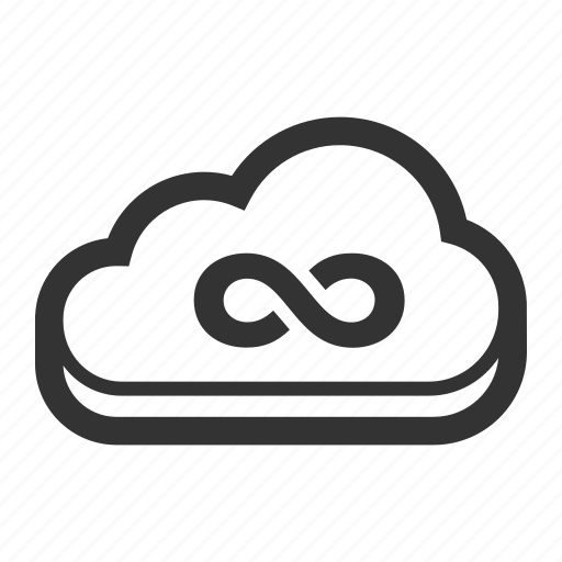 cloud, infinity, internet, network, seo, web icon