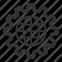configuration, global, globe, internet, network, online, settings