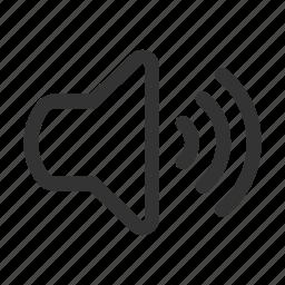 audio on, media, music, player, sound on, volume on icon