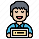 achievement, award, certificate, employee, excellent icon