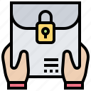 classified, confidential, document, envelope, letter icon