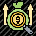 benefits, bonus, income, increase, salary icon