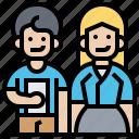 clothes, colleague, dress, employee, uniform icon