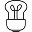 bulb, energy, invention, nature icon