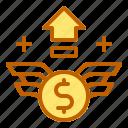 business, finance, money, profit, up icon