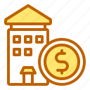 bank, business, finance, investation, property icon