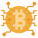 bitcoin, blockchain, coin, cryptocurrency, money icon